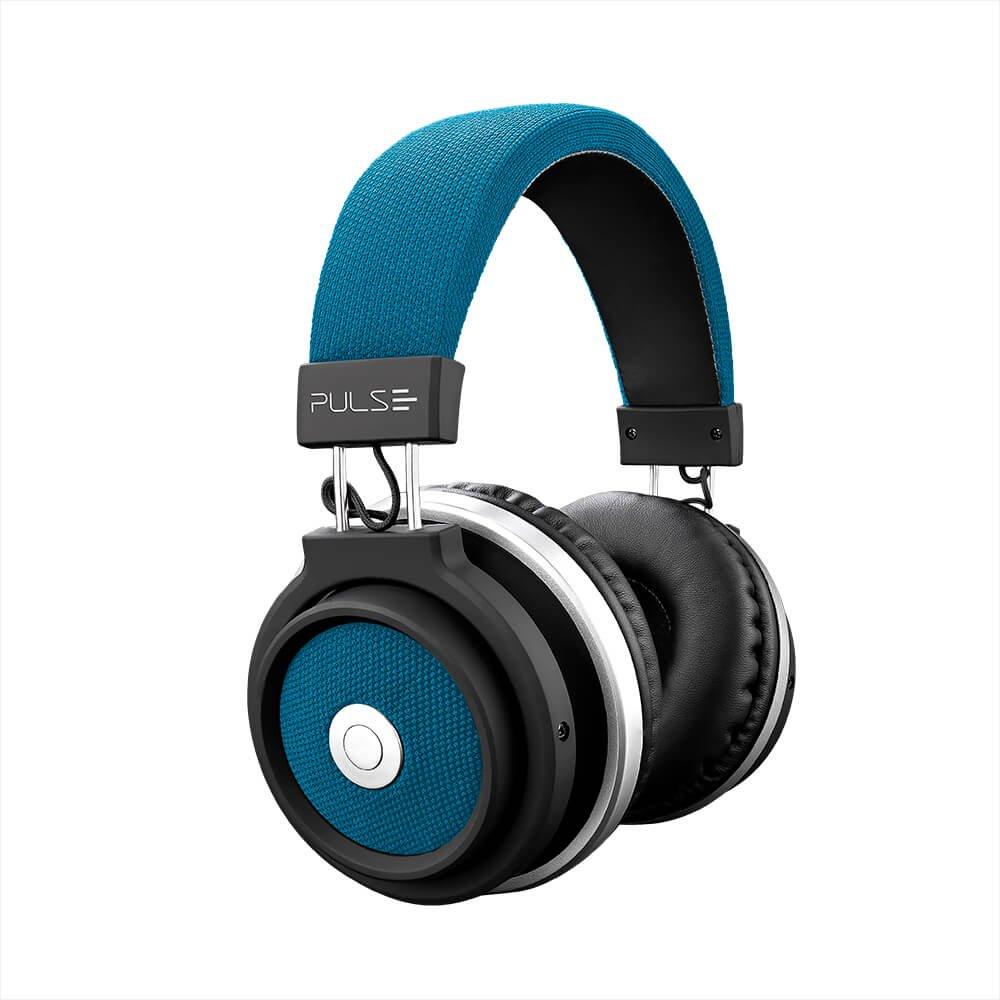 Fone de ouvido Bluetooth Large azul PH232 Multilaser unid.