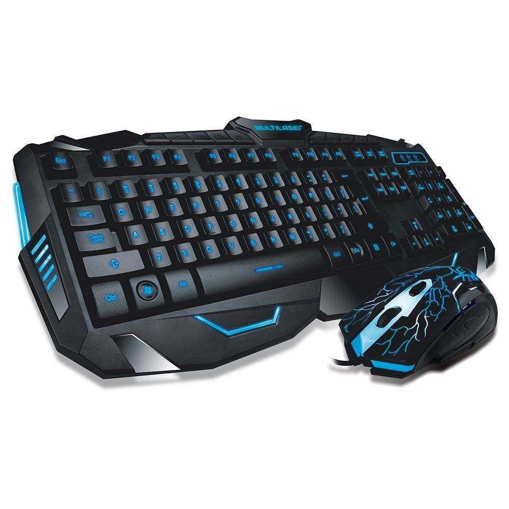 Teclado e mouse Gamer Lightning Multilaser TC195 unid.