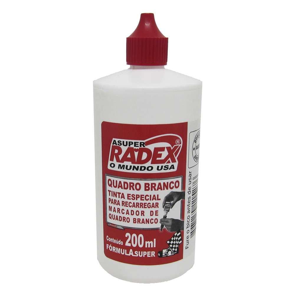 Tinta para marcador de quadro branco 200ml Super 5276 Vermelha Radex unid.