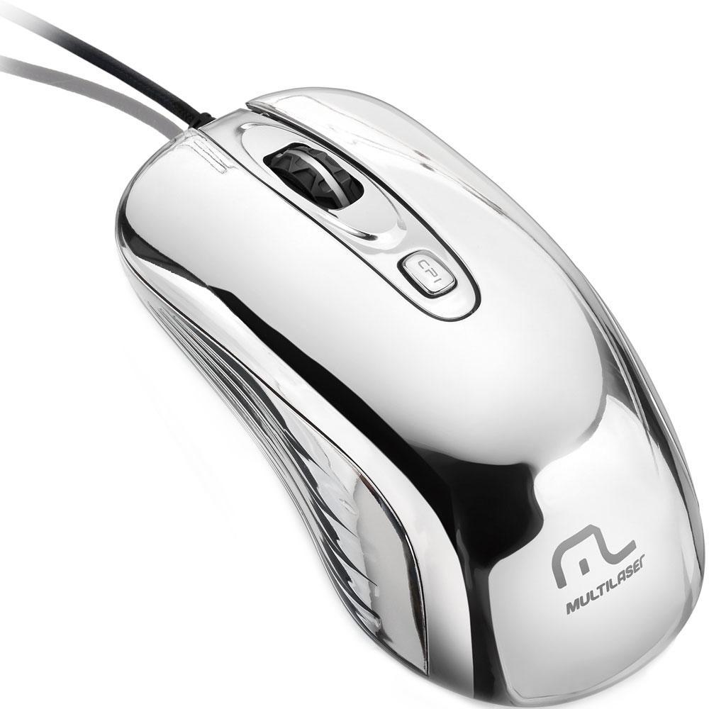 Mouse Gamer Chrome 1600 DPI Laser 4 Botões Multilaser MO228 unid.