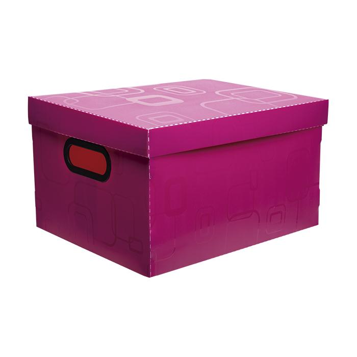 Caixa organizadora pequena rosa pink 2170.Q Dello unid.