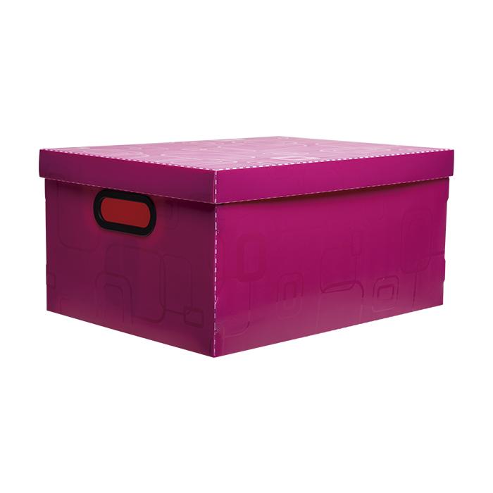 Caixa organizadora grande rosa 2172.Q Dello unid.