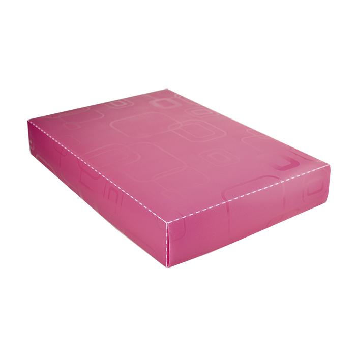 Caixa organizadora padrão camisa rosa 2174 Dello unid.