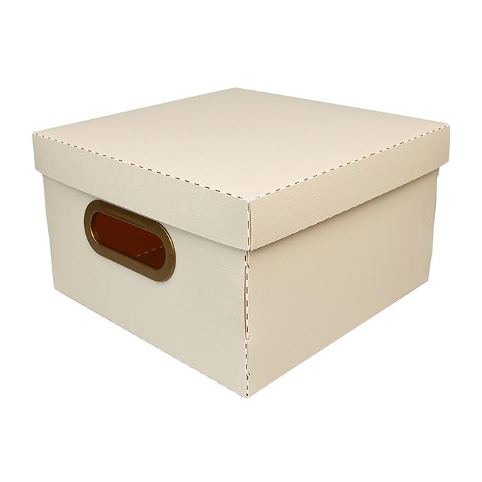 Caixa organizadora pequena linho cinza 2204.G.0005 Dello unid.