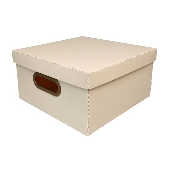 Caixa organizadora média linho cinza Dello 2205.G unid.