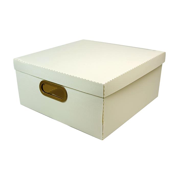 Caixa organizadora grande linho cinza Dello 2206.G0005 unid.