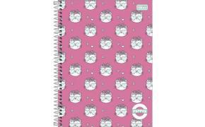 Caderno capa dura universitário 160 folhas Pepper Feminino 15981 Tilibra unid.