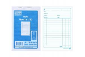 Bloco nota neutra 1/32 50 folhas 22923 Tilibra unid.