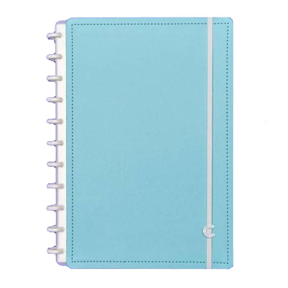 Caderno Inteligente Grande capa dura universitário 60 folhas Azul Celeste Ambras unid.