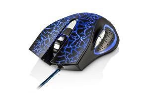 Mouse Gamer com LED 2400 DPI 6 botões preto Multilaser MO250 unid.