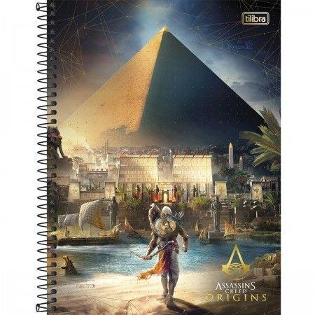Caderno capa dura universitário 200 folhas Assassin's Creed 14341 Tilibra unid.