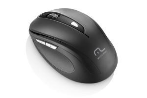 Mouse sem fio 1600 DPI 6 botões preto Multilaser MO237 unid.