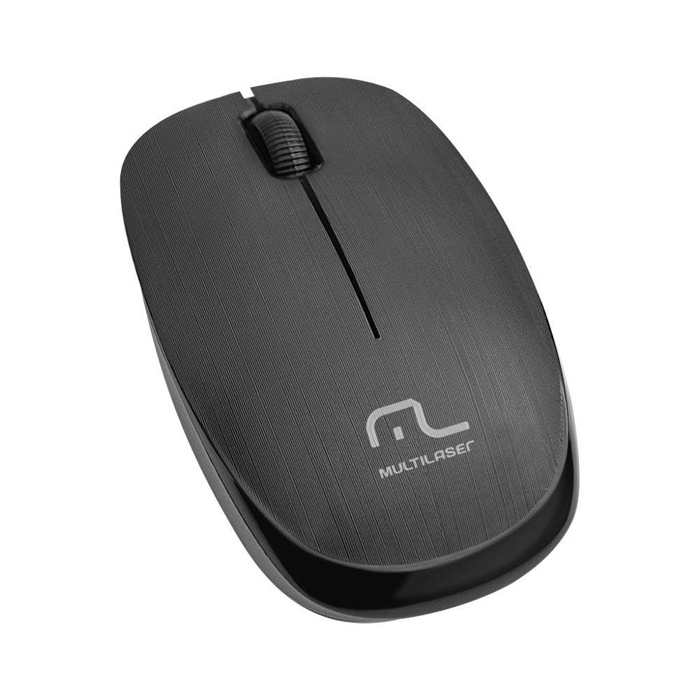 Mouse USB sem fio 1200 DPI 3 botões preto Multilaser MO251 unid.