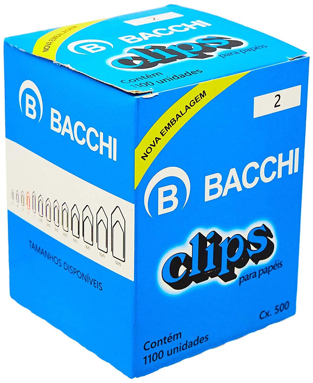 Clips para papéis com 420 unidades Bacchi unid.
