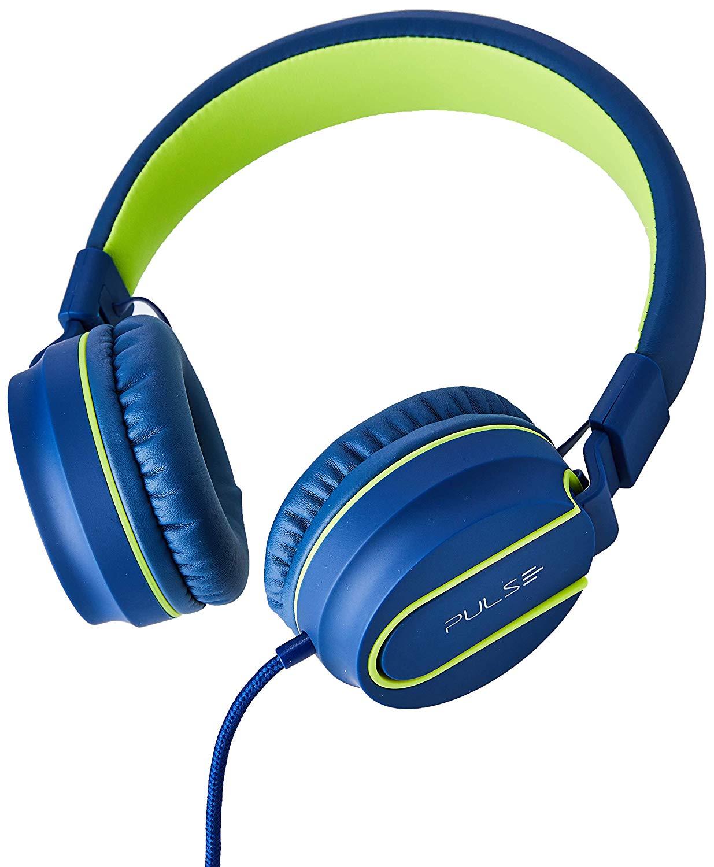 Fone de ouvido com microfone Pulse azul e verde Multilaser PH162 unid.