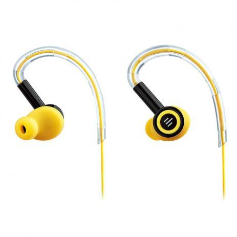 Fone de ouvido Earhook Pulse preto e amarelo Multilaser PH221 unid.