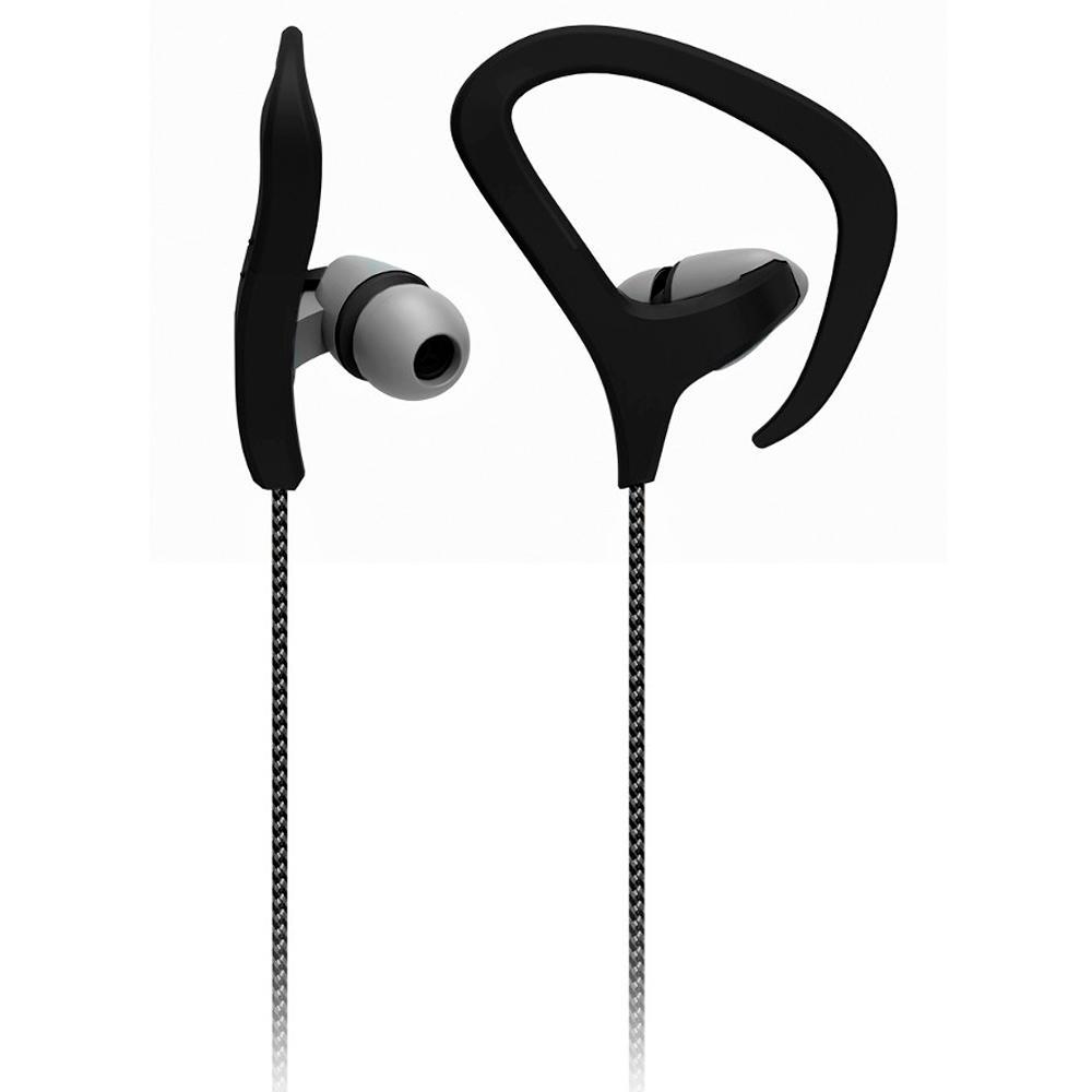 Fone de ouvido Earhook Fitness com microfone preto Multilaser PH163 unid.