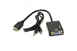 CABO CONVERSOR HDMI M X VGA F C/ SAIDA AUDIO WI293 MULTILASER UND