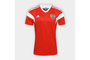 Camisa Russia OFICIAL I 2018 P/G Adidas unid.