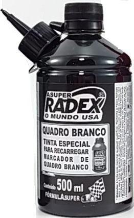 Tinta para marcador de quadro branco 500ml Super 4867 Preto Radex unid.