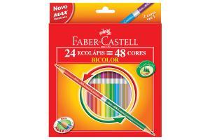 Lápis de cor BiColor com 48 cores 120624G Faber unid.