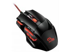 Mouse Gamer com LED 2400 DPI 7 botões Multilaser MO236 unid.