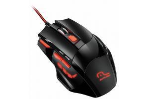 Mouse Gamer com LED 2400 DPI 7 botões Multilaser MO236 unid.