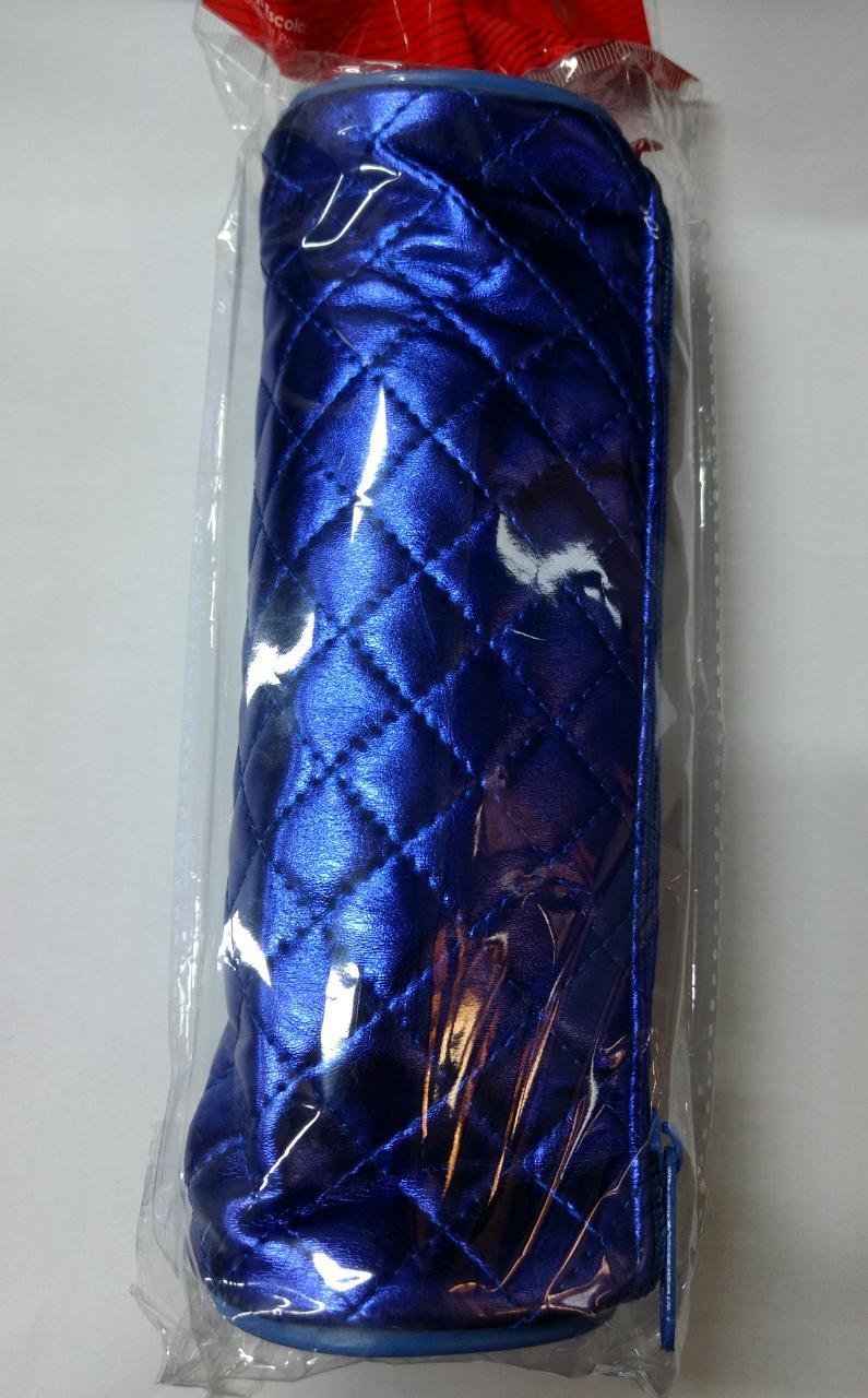 Estojo azul metálico com zíper WPE00416 Winth unid.