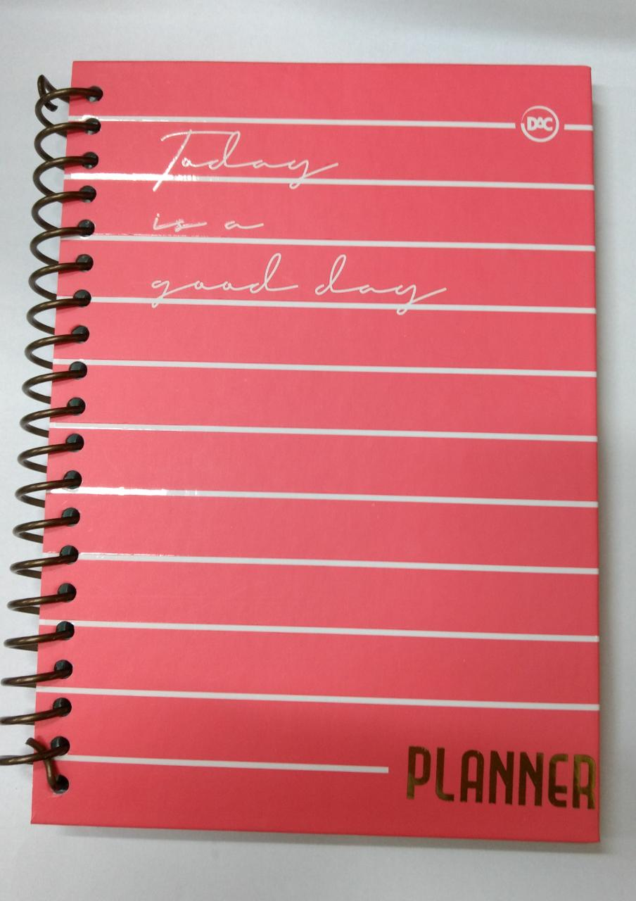 Caderno anotações Agenda 96 folhas Planner permanente 3043 Vermelho DAC unid.