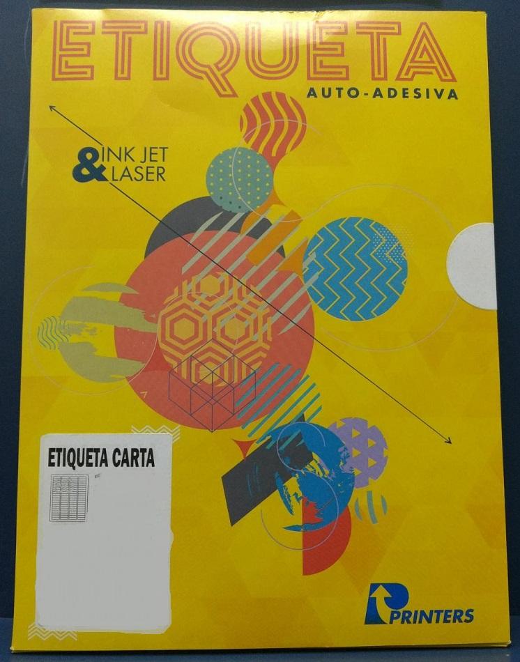 Etiqueta Inkjet e Laser 1265 com 1 etiqueta folhas Printers pacote com 10 folhas