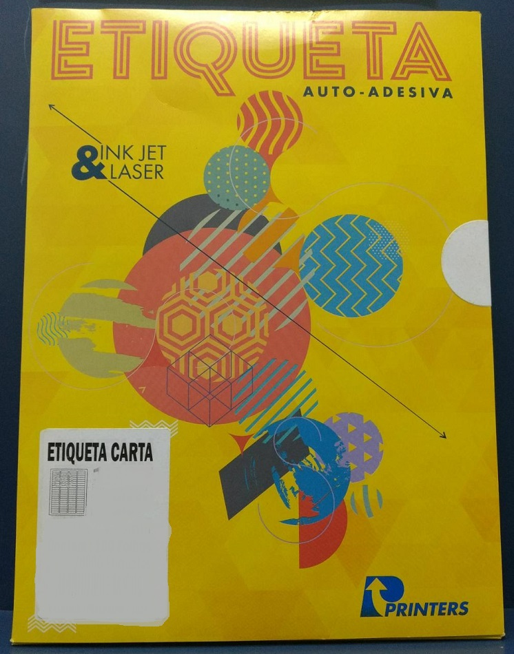 Etiqueta Inkjet e Laser 1567 com 80 etiquetas folhas Printers pacote com 100 folhas