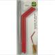 Kit 2 Canudos de silicone vermelho com escova Bono D6921-VM unid.