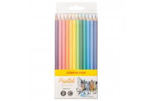 Lápis de cor com 12 cores Pastel Art-Color Compactor unid.