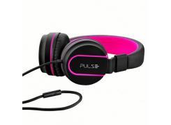 Fone de ouvido com microfone Pulse preto e rosa Multilaser PH160 unid.