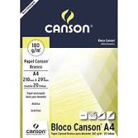 BLOCO DESENHO CANSON 210 X 297 140GR 20FLS BRANCO 7202 ROMITEC UND
