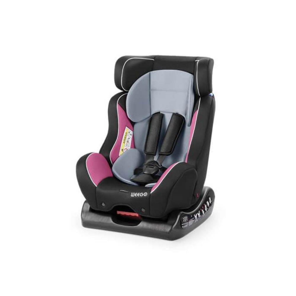 Cadeirinha bebê infantil automóvel reclinável rosa e cinza 0 a 25 KG Multilaser unid.