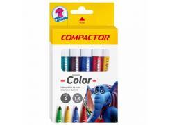 Pincel marcador compactor Color Compactor caixa 06 unid.