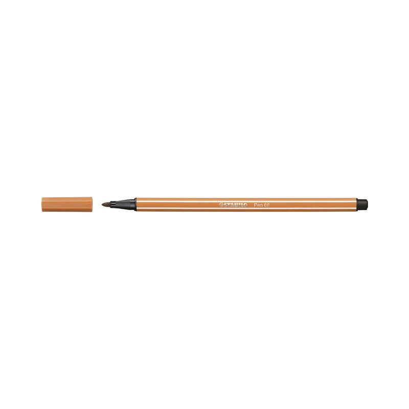 Caneta Pen Stabilo marrom claro 68/89 Stabilo unid.