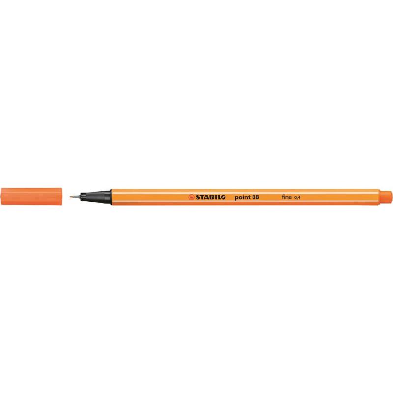 Caneta Point Stabilo 0.4 Fine laranja Stabilo 88/30 unid.
