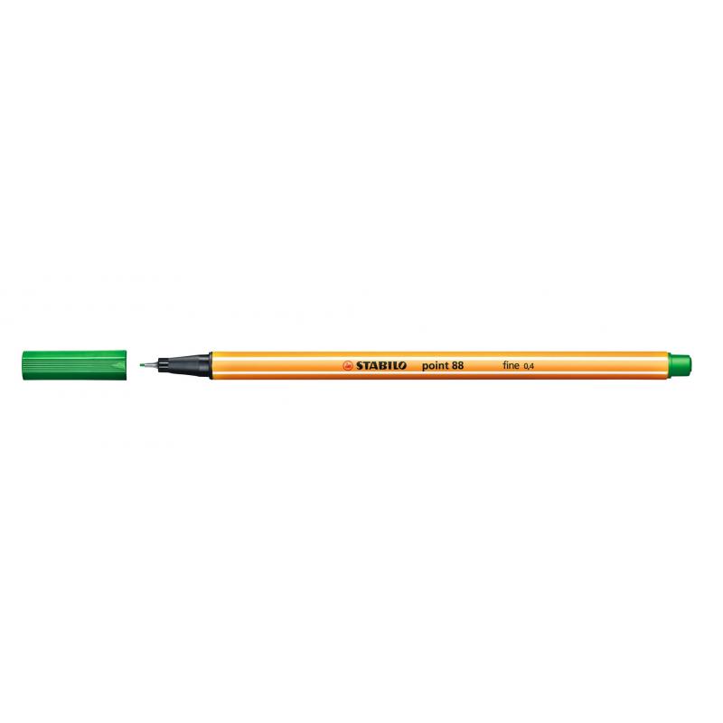 Caneta Point Stabilo 0.4 Fine verde oliva Stabilo 88/36 unid.