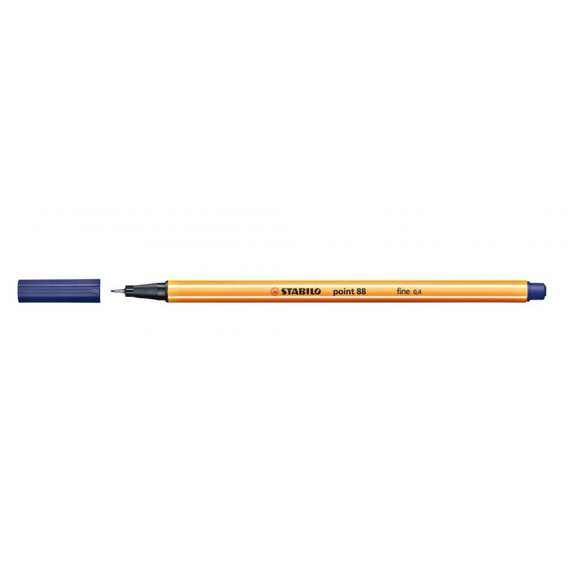Caneta Point Stabilo 0.4 Fine azul escuro Stabilo 88/41 unid.