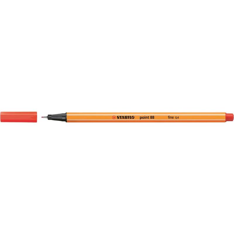 Caneta Point Stabilo 0.4 Fine vermelho claro Stabilo 88/48 unid.