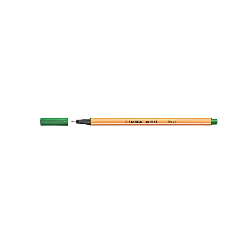 Caneta Point Stabilo 0.4 Fine verde escuro Stabilo 88/53 unid.