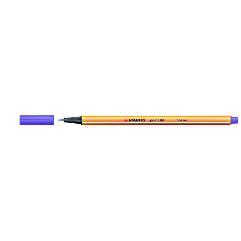 Caneta Point Stabilo 0.4 Fine violeta Stabilo 88/55 unid.