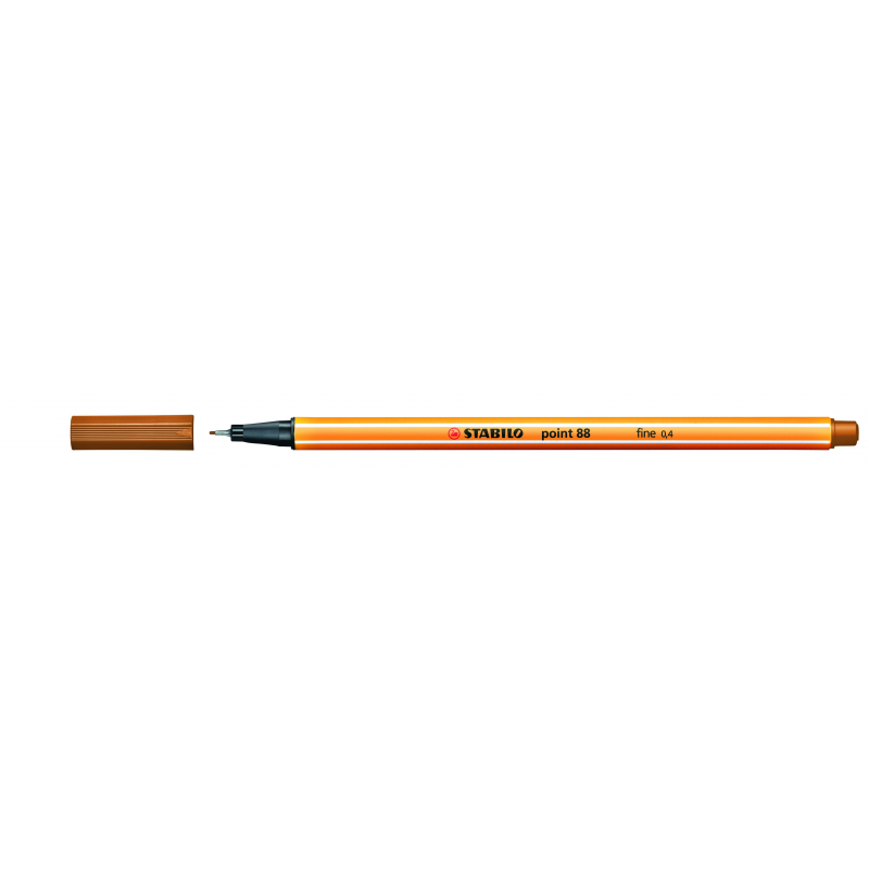 Caneta Point Stabilo 0.4 Fine marrom claro Stabilo 88/89 unid.