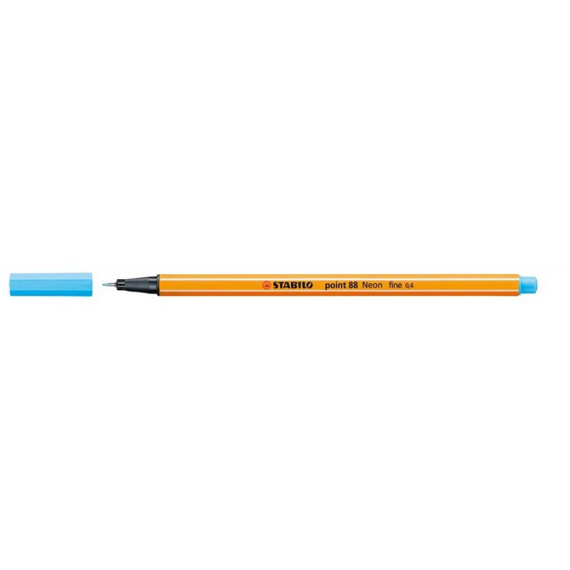 Caneta Point Stabilo 0.4 Fine  azul neon Stabilo 88/031 unid.