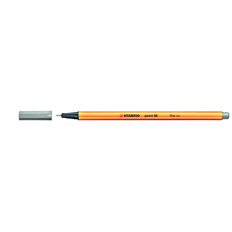 Caneta Point Stabilo 0.4 Fine cinza claro Stabilo 88/94 unid.