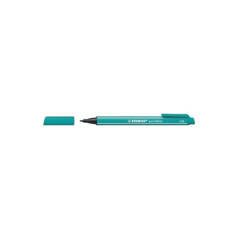 Caneta PointMax Stabilo azul turquesa 488/51 Stabilo unid.