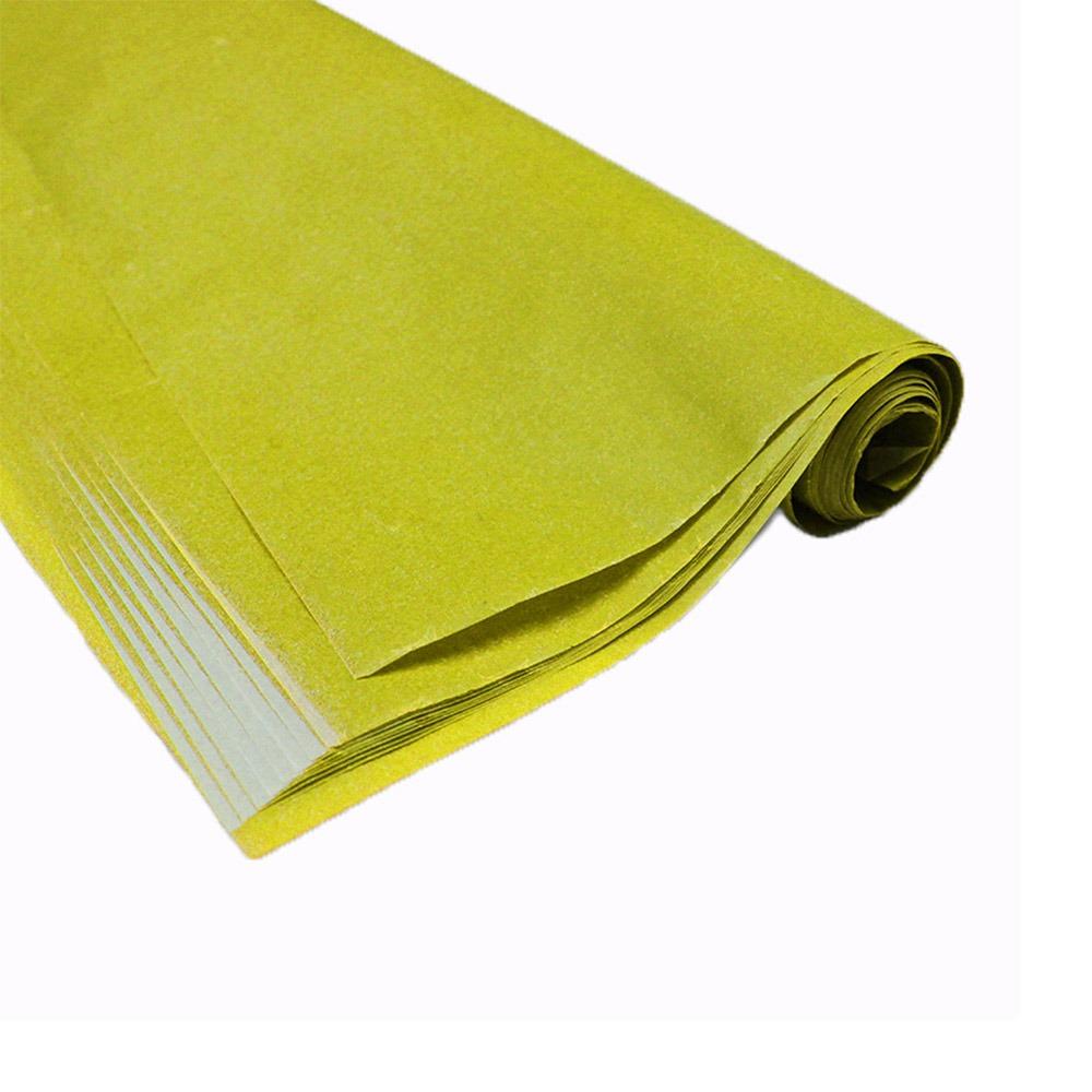 Carbono para riscos e bordados 44 x 66 amareloPrinters Franklin caixa com 100 folhas
