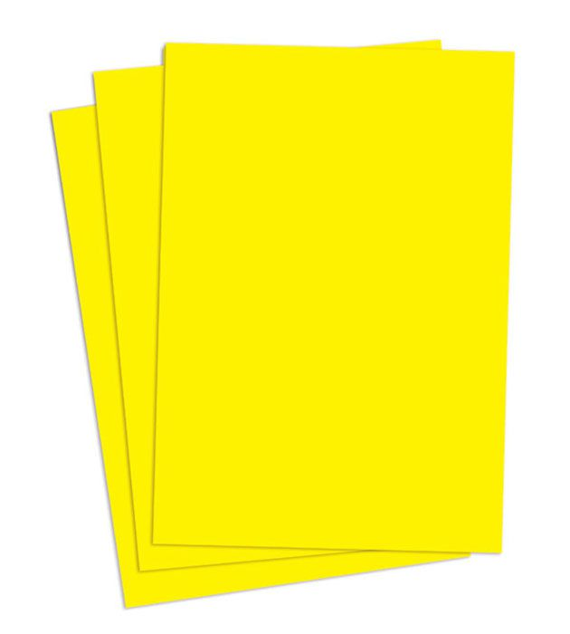 Papel super bond (Millennium) 66 x 96 50gr Amarelo canário Gordinho Braune pacote 500 folhas